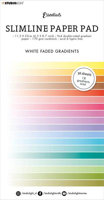 Studio Light Double-Sided Slimline Paper Pad 36/Pkg-NR. 31, Gradient White Fade -SLESPP31