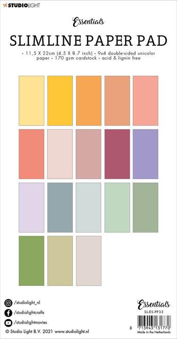 Studio Light Double-Sided Slimline Paper Pad 36/Pkg-NR. 33, Unicolor Floral -SLESPP33 - 8713943131770