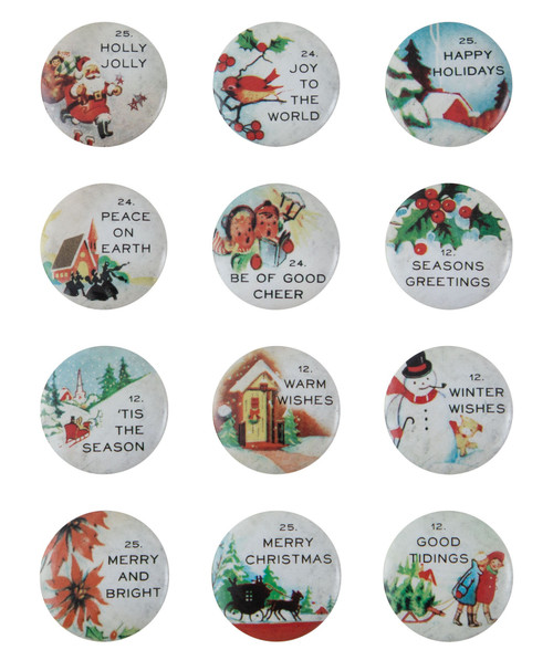 Idea-Ology Quote Flair Buttons 12/Pkg-Christmas -TH94196 - 040861941968