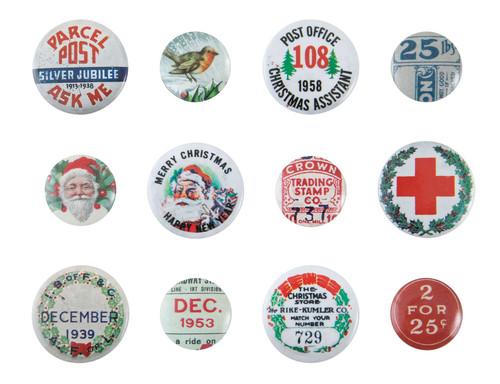 Idea-Ology Mini Flair Buttons 12/Pkg-Christmas -TH94197 - 040861941975