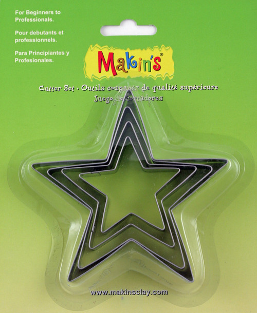 Makin's Clay Cutters 4/Pkg-Star -M365-04 - 656290365048