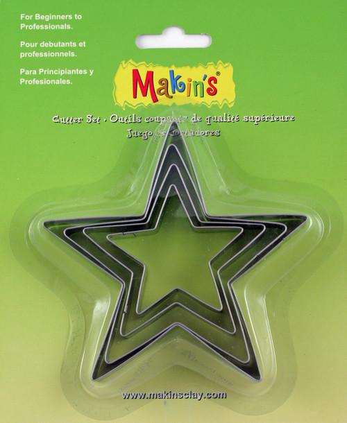 3 Pack Makin's Clay Cutters 4/Pkg-Star -M365-04 - 656290365048