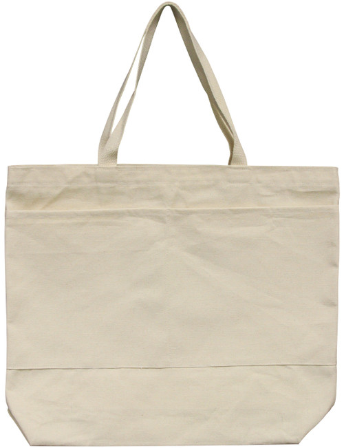"""Wear'm Large Tote With Pockets 18""""x16""""x3""""-Natural -MR412 - 818639000281"""