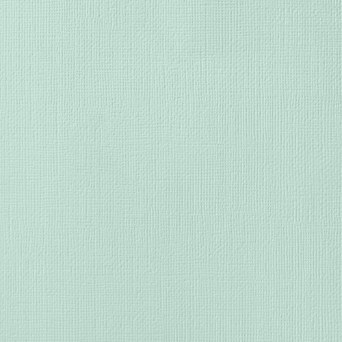 """25 Pack American Crafts Textured Cardstock 12""""X12""""-Spearmint -AM710-07 - 718813715072"""