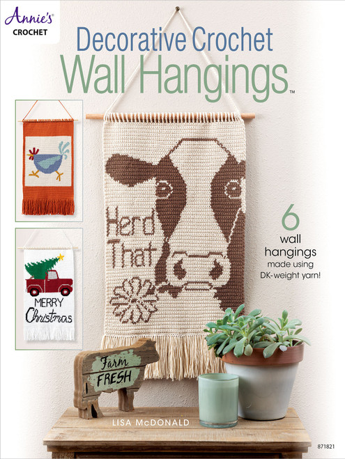 Annie's Books-Decorative Crochet Wall Hangings -AA-71821 - 7325264360629781640254930