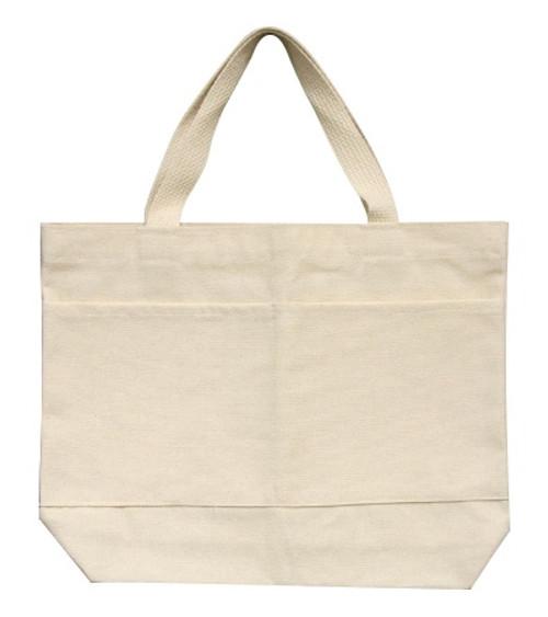 "2 Pack Wear'm Medium Tote 13.5""x11.5""x2""-Natural -MR410 - 818639000267"