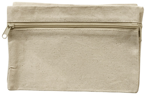 """2 Pack Wear'm Zippered Organizer Bag 9""""x6"""" 3/Pkg-Natural -MR192 - 842672049242"""