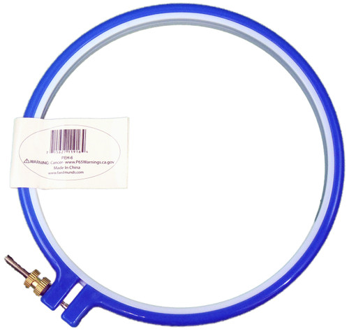 """Frank A. Edmunds Plastic Embroidery Hoop 6""""-Blue -PEH-6"""
