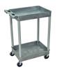 Gray Tub Cart 2 Shelves