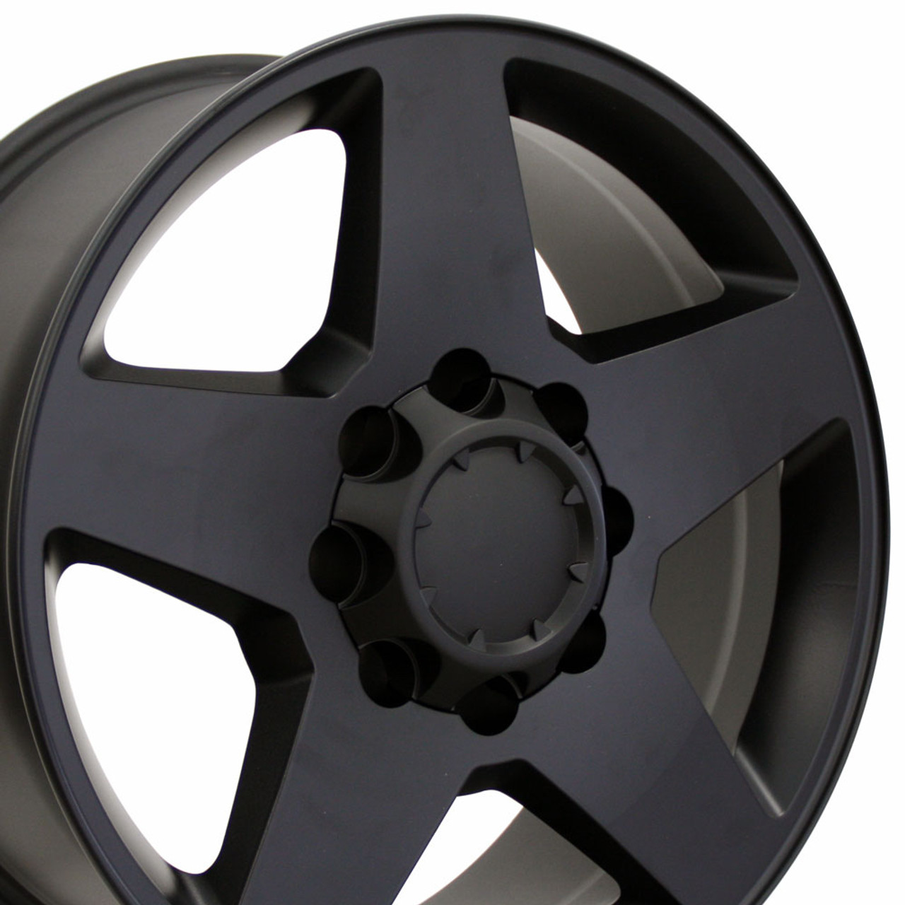 20 Fits Chevrolet Silverado Wheel Matte Black 20x8 5