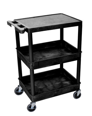 Black Detailing Cart 3 Shelves