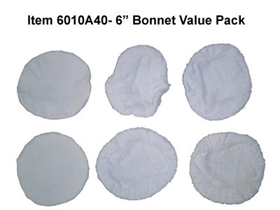 6 Inch Terrycloth Bonnet Value Pack 6010A40