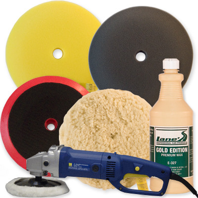 "7"" Buffer Polishing Pad Wax Kit"