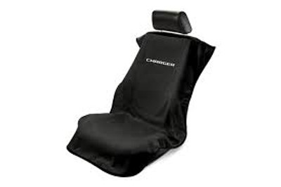 Charger Black Car Seat Cover Towel
