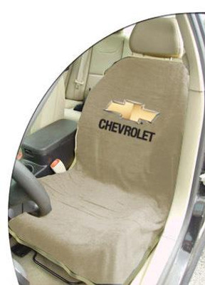 Chevrolet Tan Car Seat Cover Towel