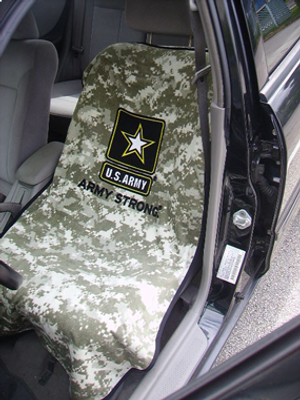 US Army Camo Car Seat Cover Towel