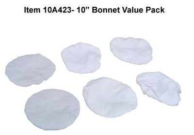 "10"" Terrycloth Bonnet Value Pack 10A423"