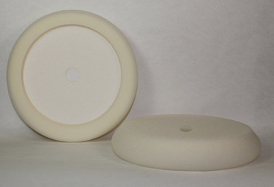 "8"" Heavy Cut White Foam Pad HB-1N"