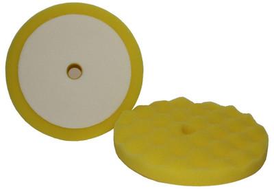 """8"""" Medium Cut Yellow Waffle Foam Pad 2 Pack"""