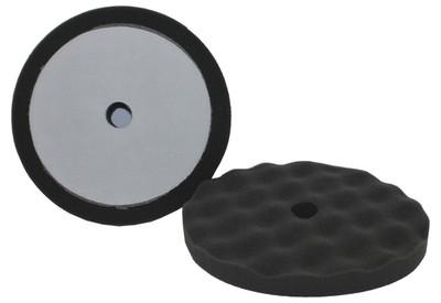 "8"" Final Finish Black Waffle Weave Foam Polishing Pad 2 Pack"