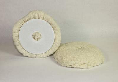 "4"" Velcro Wool Buffing Pad"