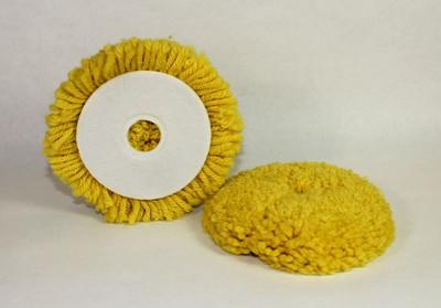 "4"" Velcro Wool Blend Polishing Pad"