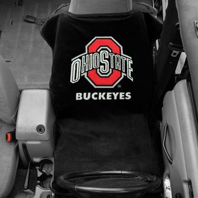 Ohio State Buckeyes Black Car Seat Towel