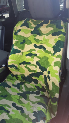 Green Camouflage Car Seat Towel