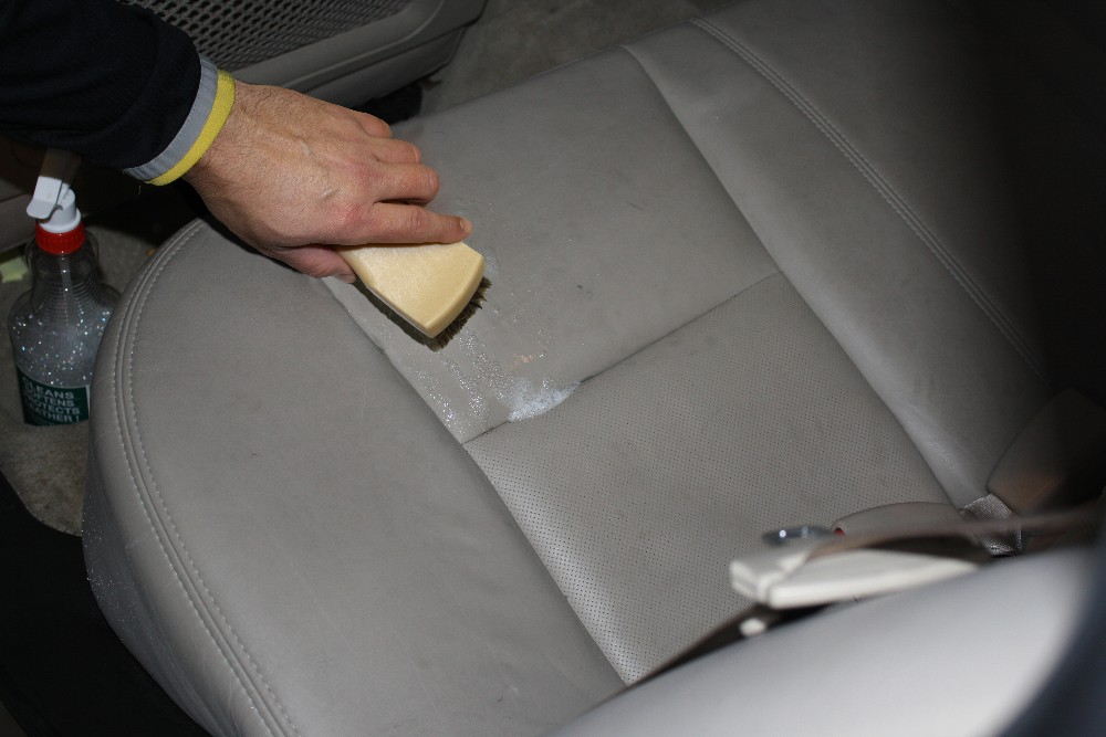 Scrub Leather with Interior Detail Brush
