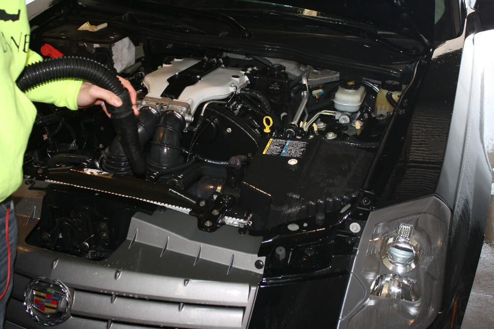 Use Blower to Dry Engine