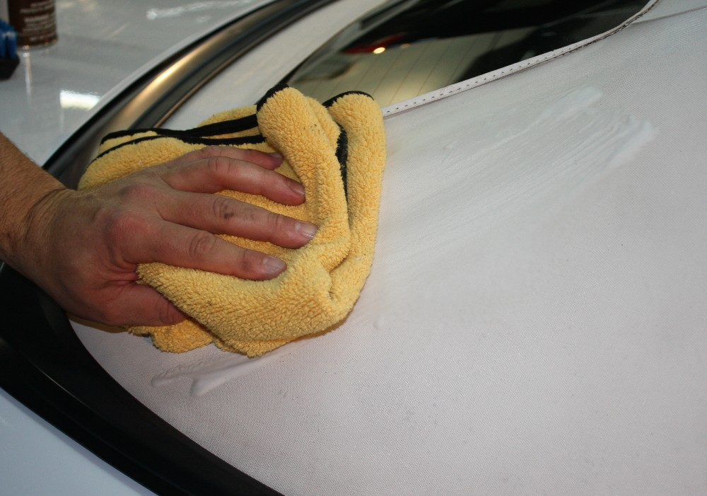 Wipe with Clean Microfiber Towel