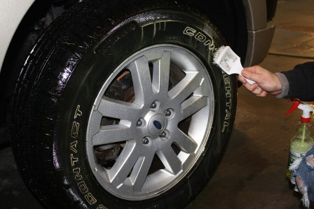Clean Rubber Tires