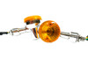 Large Chrome Moped Marker Lights / Turn Signal  *sold in pairs*