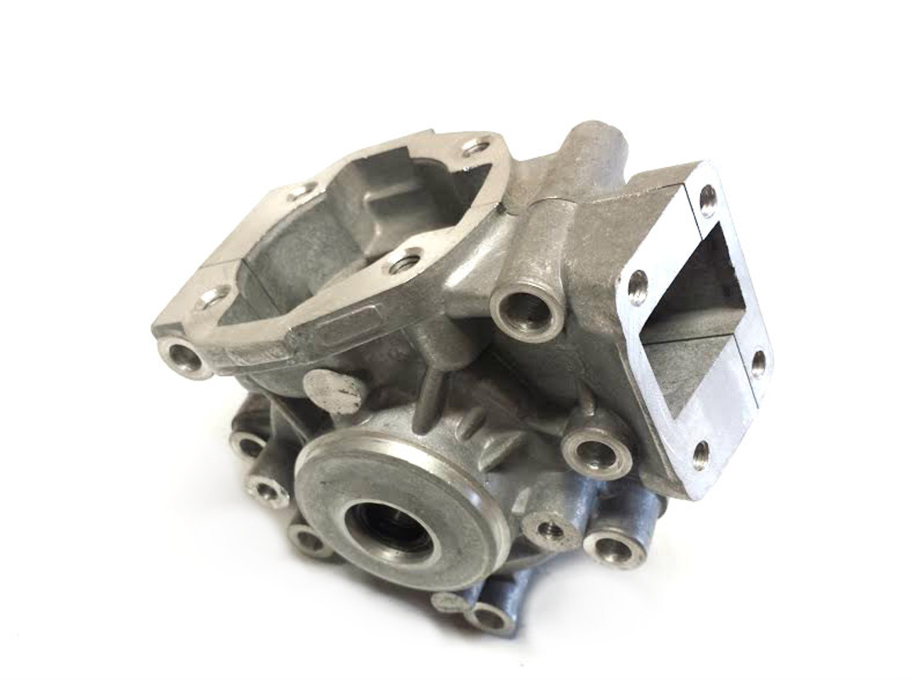 Motobecane AV10 Complete Engine Case with Bearings, Seals, and Cylinder Studs,