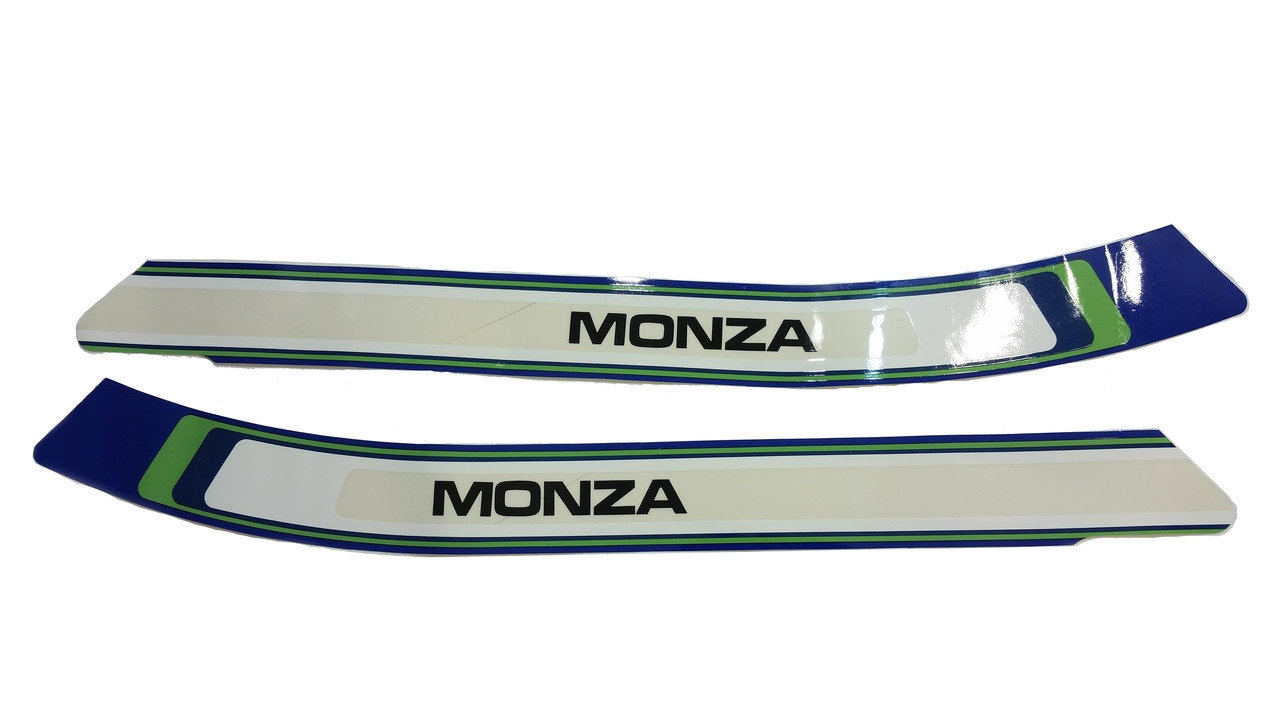 Nos Puch Monza Moped Tank Decal Sticker Pair Blue Green White