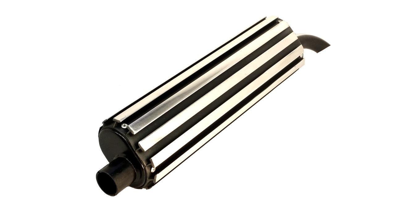 Cyborg Exhaust Moped Silencer / Baffle - Black and Chrome