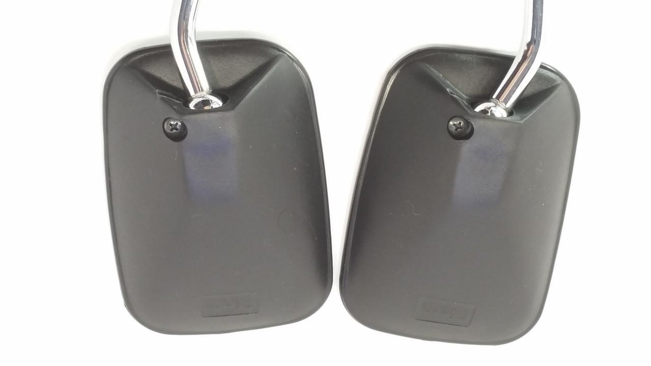 Kinetic Moped Rectangular Threaded 10mm Mirror Set -  Universal Black & Chrome