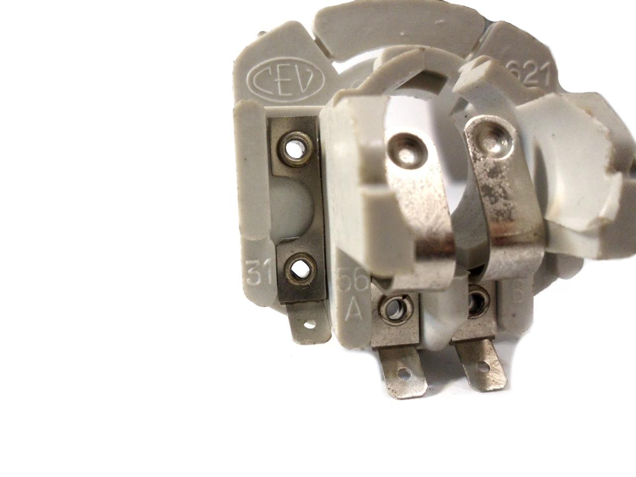 NOS CEV BA20D Moped Headlight Bulb Holder / Socket - 3 Prong