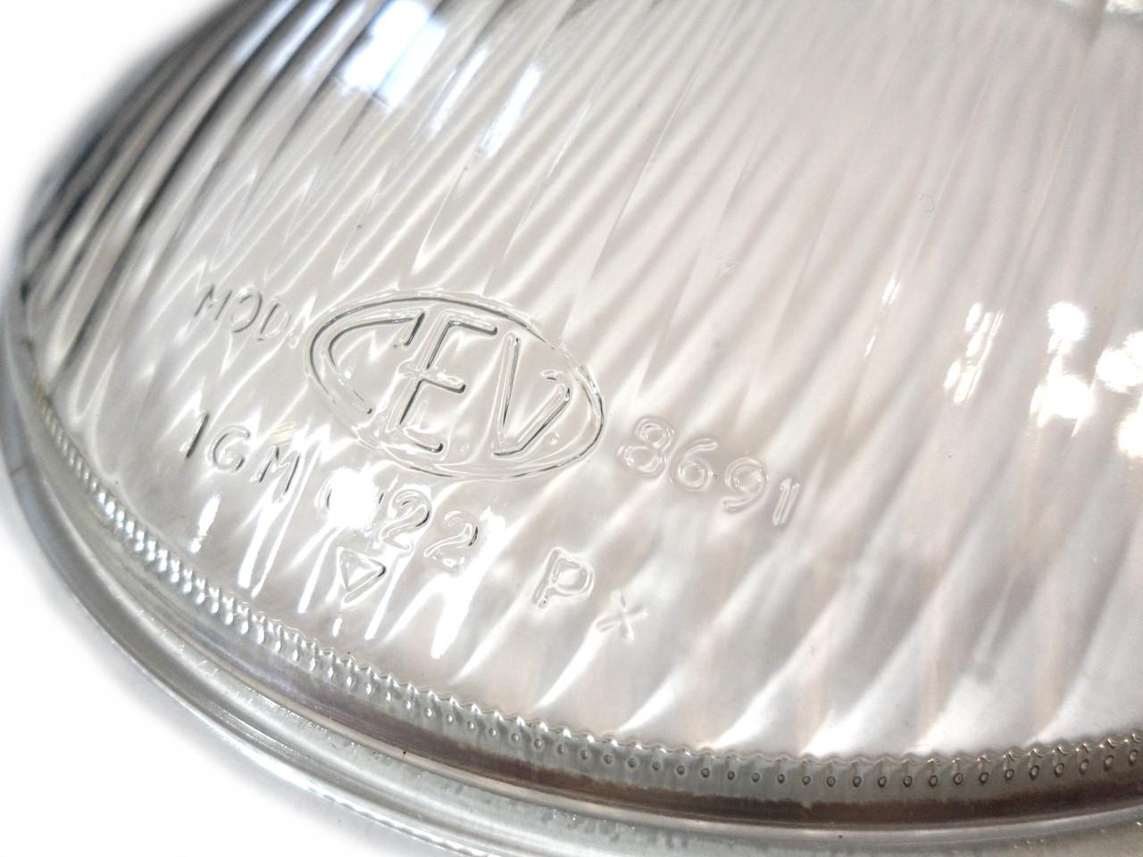 NOS CEV 8691 Glass Headlight Lens - 130mm