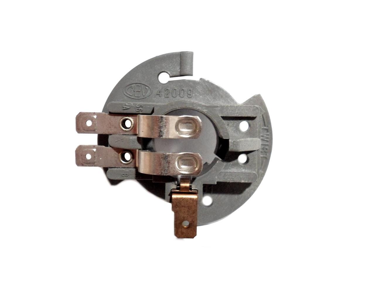 NOS Tomos / Kinetic CEV BA15D Moped Headlight Bulb Holder / Socket - 3 Prong