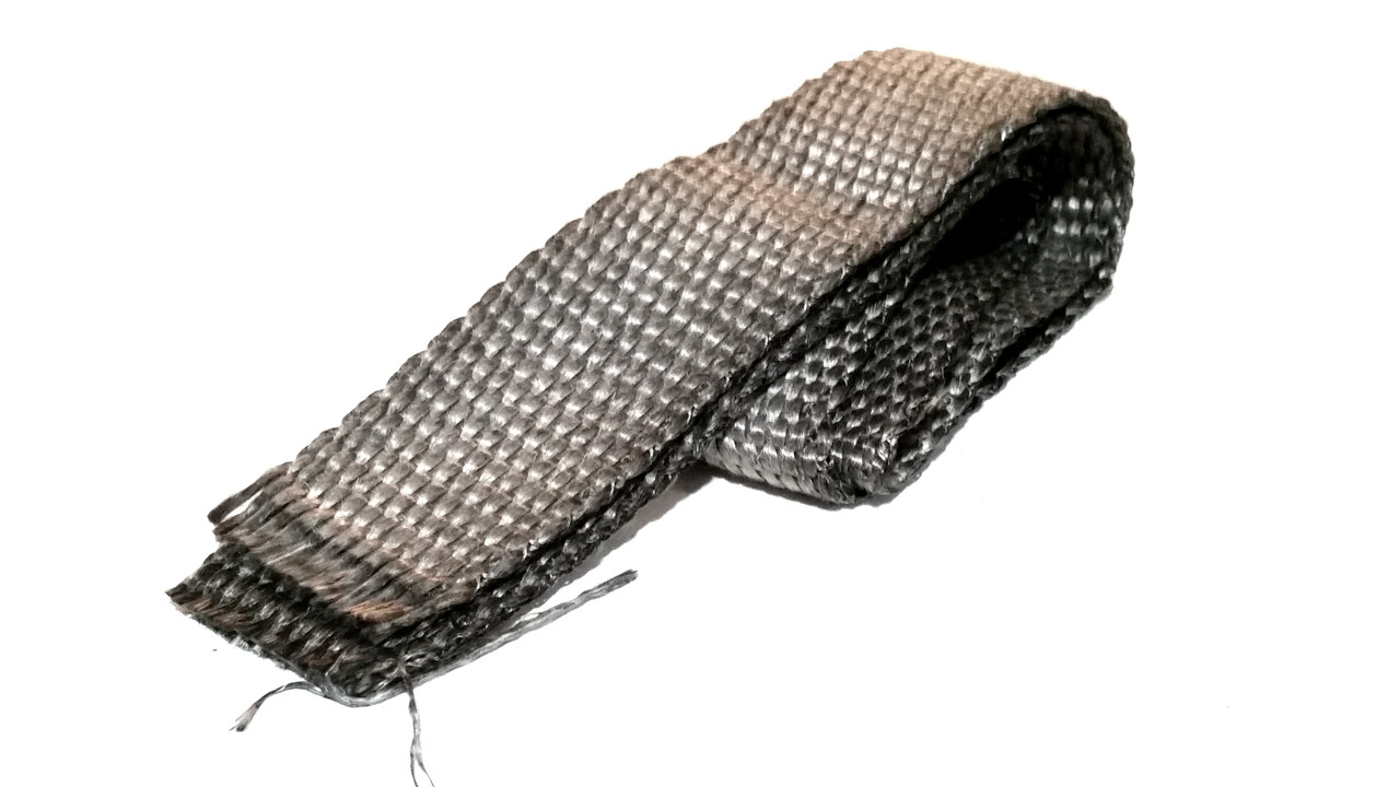 Grey 50mm Exhaust Heat Shield Wrap - 3 Foot Sections