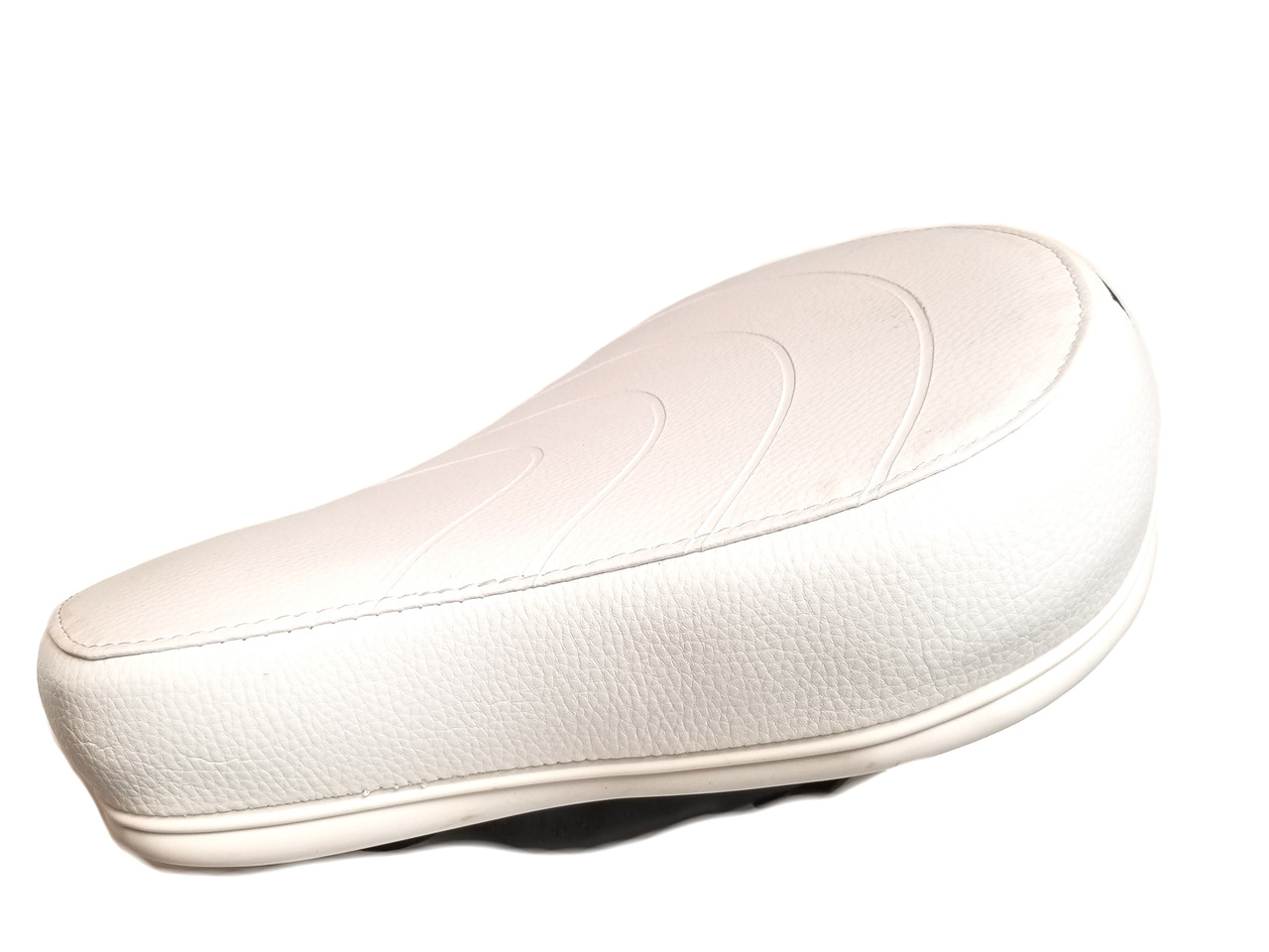 Puch White Saddle Seat - Low Profile Cushion