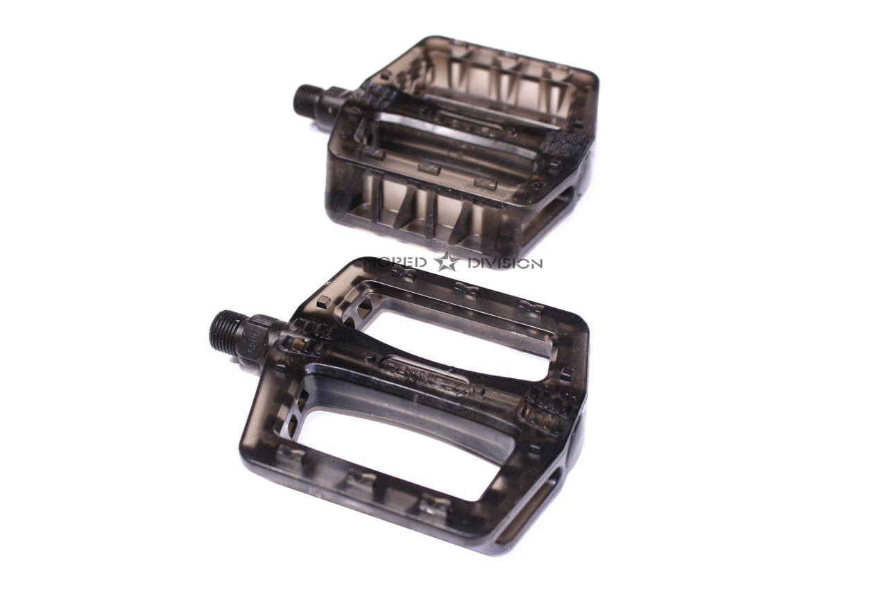 SNAFU PC BMX Pedal Set - Translucent Black
