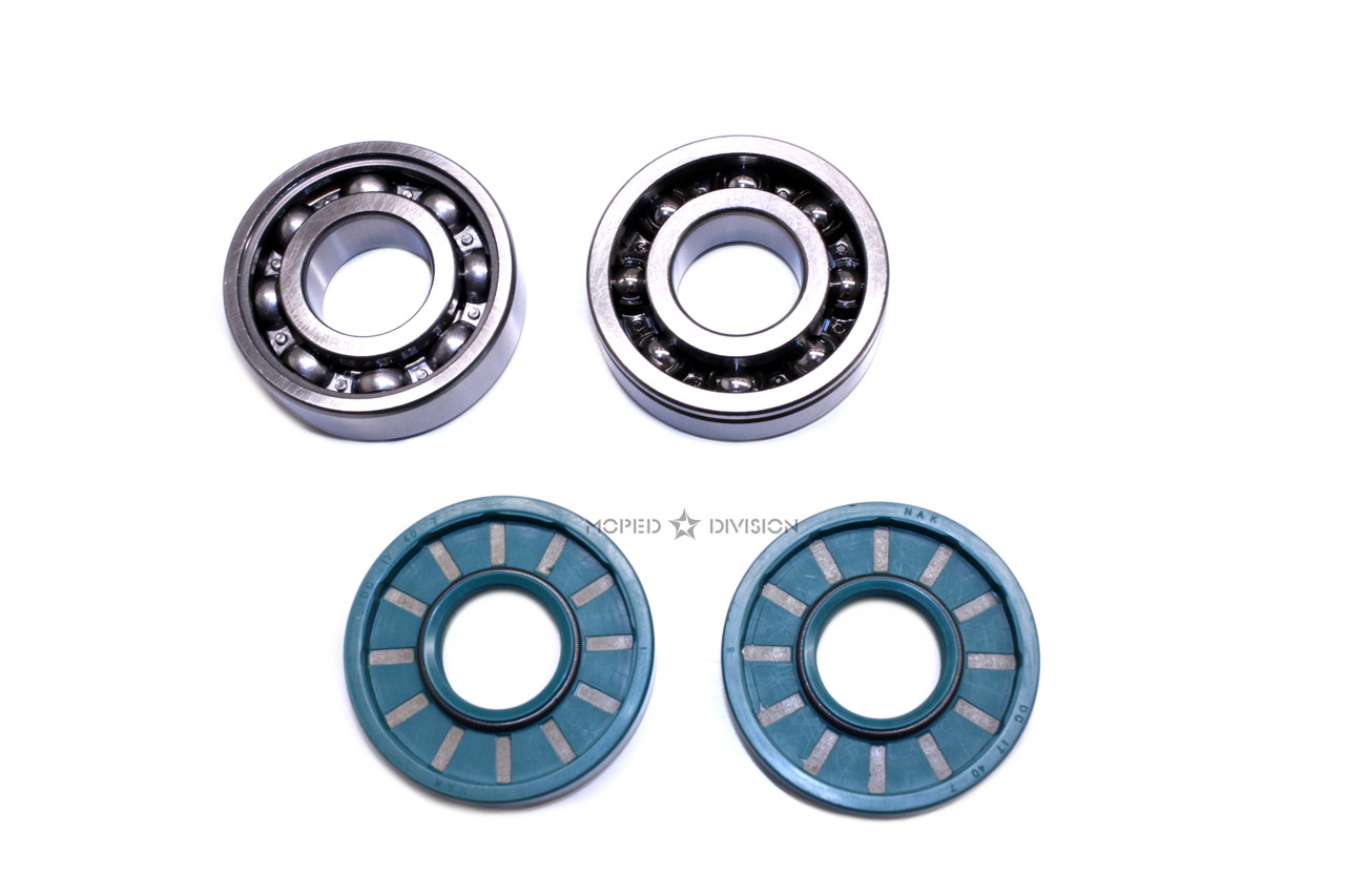 Puch E50 Crankshaft Bearings and Seals Kit - BAC