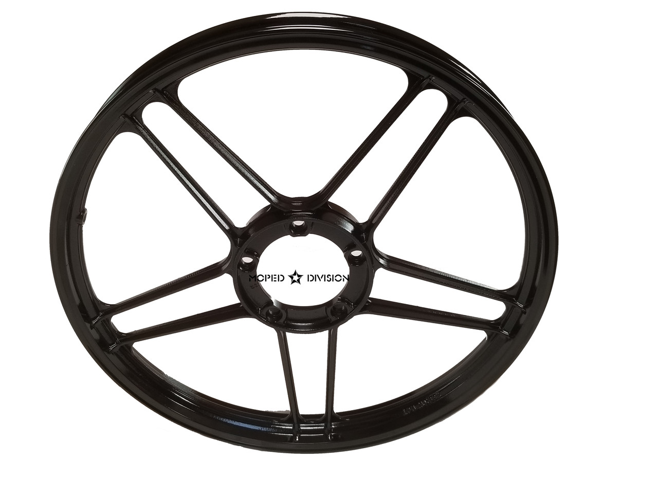 Puch 5 star Mag Wheel, Bare - Gloss Black