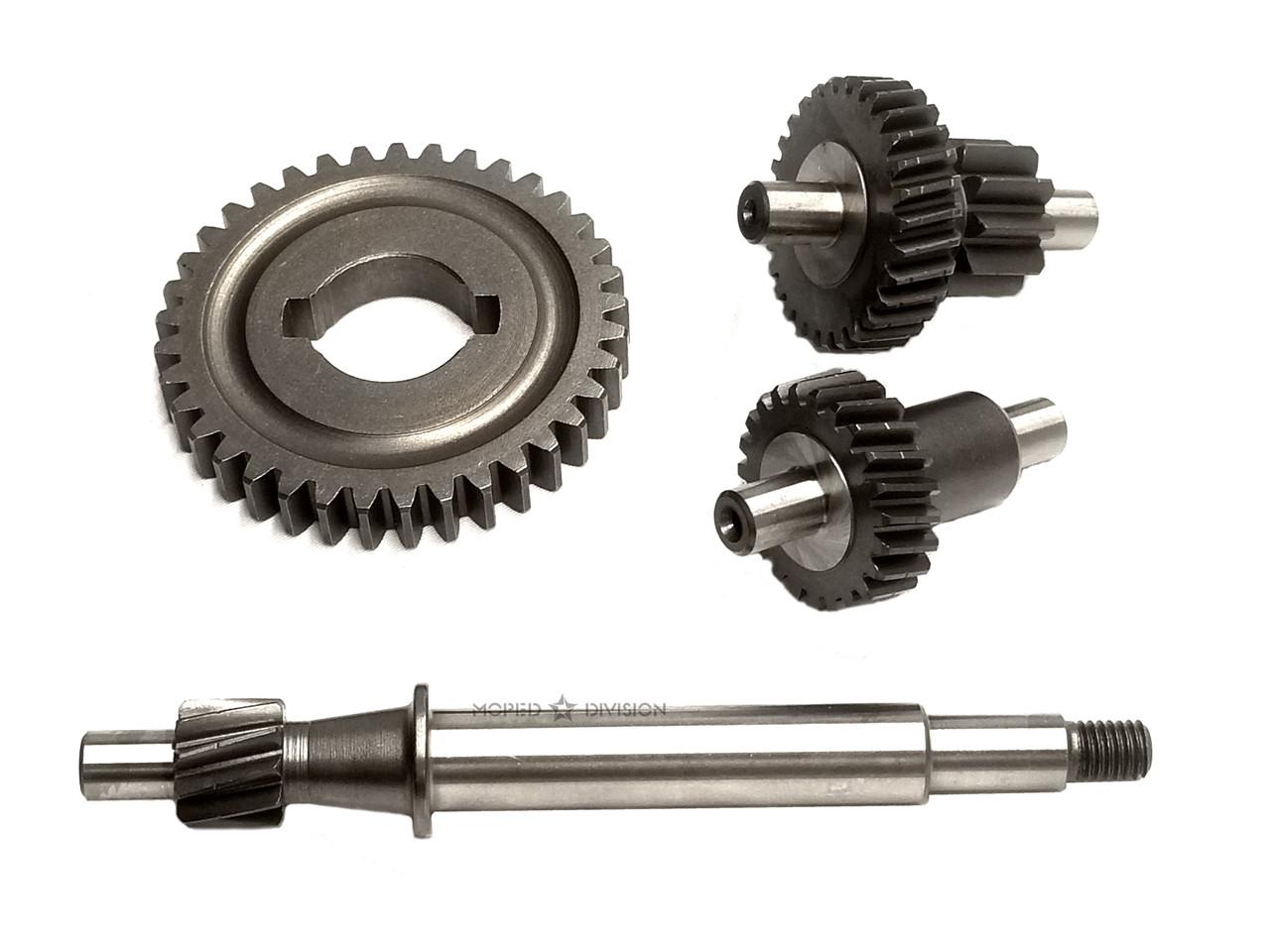 Vespa Piaggio Variated Hardened Gear Set - Stock 10.7:1