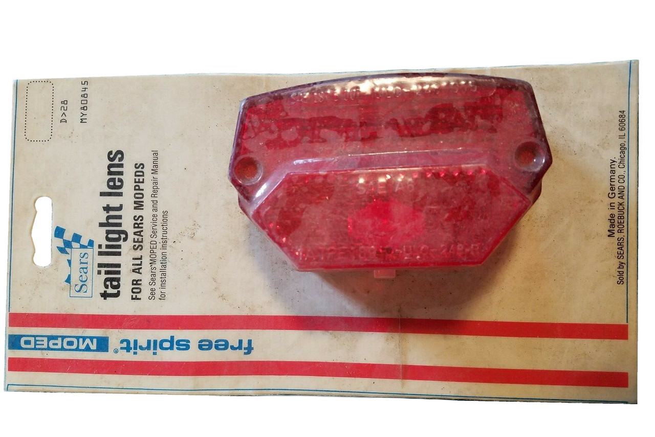 NOS Puch ULO Tail Light Lens - Fits Puch, Sachs, Honda