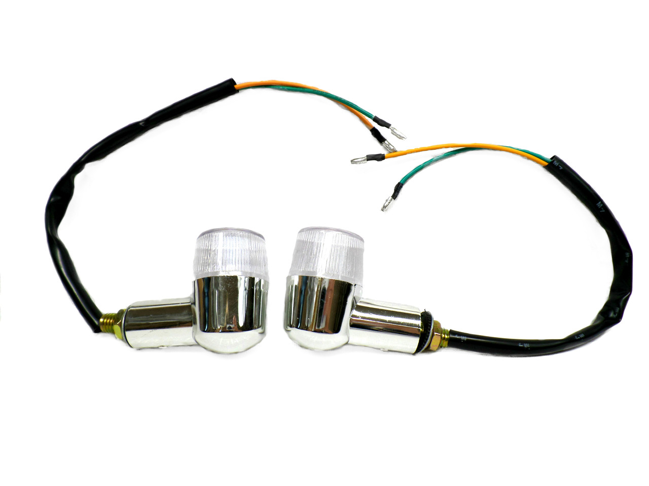 Chrome Moped Marker Lights / Turn Signal  *sold in pairs*
