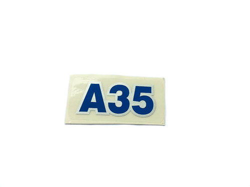 "Original Tomos "" A35 "" Decal - Blue with silver outline"