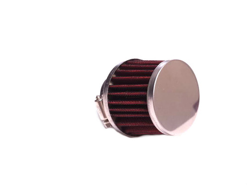28mm Red and Chrome Metal Mesh Air Filter